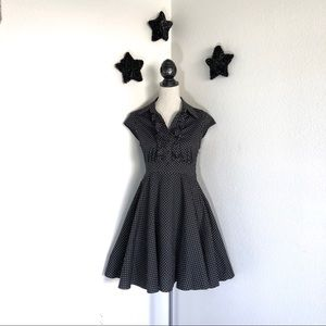 BaileyBlue Pinup Polka Dot Swing Dress M